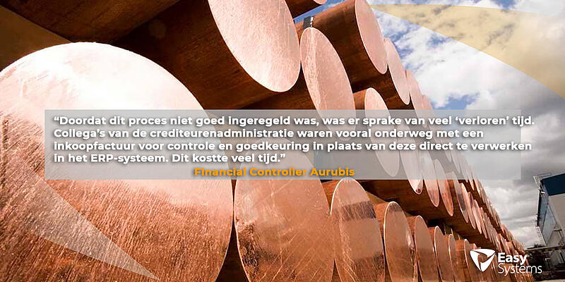 geautomatiseerde factuurverwerking Aurubis Netherlands quote Gerben Pol 1024x512